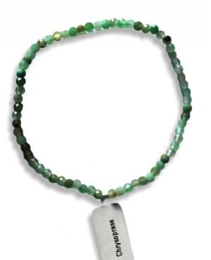 Bracelet facetté Chrysoprase