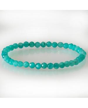 Bracelet facetté Amazonite