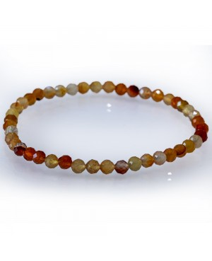 Cornaline faceted bracelet