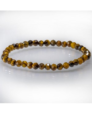 Eye of tiger faceted bracelet