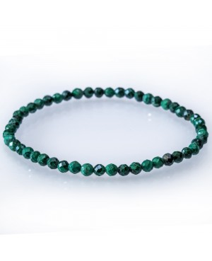 Malachite faceted bracelet