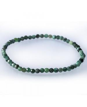 Emeraud faceted bracelet
