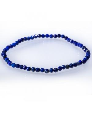 Lapis-lazuli faceted bracelet