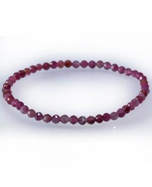 Ruby faceted bracelet